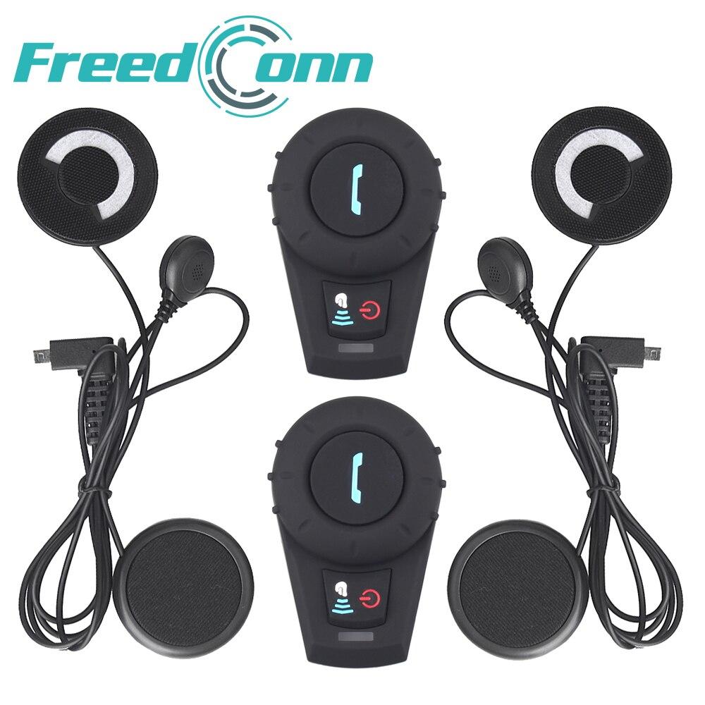 2017 Updated FM Radio! Helmet Intercom wireless motorcycle bluetooth headset BT Interphone for 3 riders Stereo music