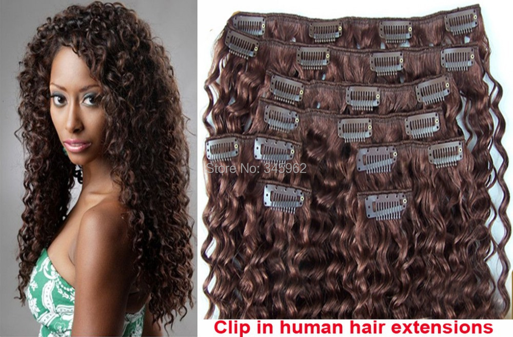6 kinky curly hair clip extensions Clips Hair Extensions lot afro - sexy products wigs store