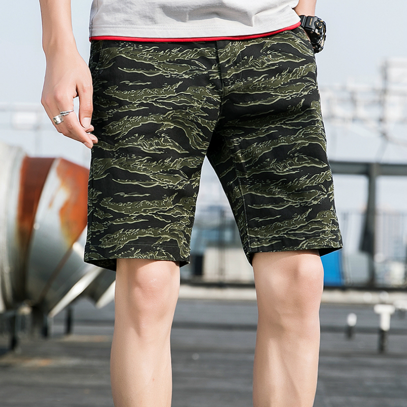 2019 Summer New Casual Shorts Beach Pants Cargo Shorts Camouflage Tactical Shorts Men Loose Work Casual Short Pants Plus Size