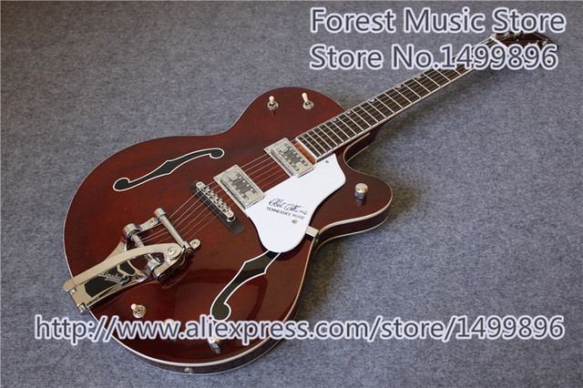 Cheap China OEM Custom Grest. G6119-1962FT Chet Atkins Tennessee Rose Electric Jazz Guitars Prainting F Holes For Sale
