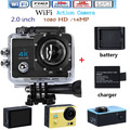 Go Pro hero 4 style WIFI Sport Action Camera Full HD 1080P 12MP 2.0 inch Waterproof 30M Sport Camera Add Battery and Charger