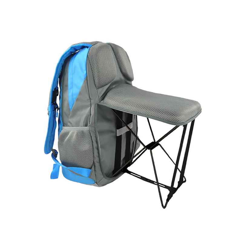 цены Outdoor Fishing Backpack Hiking Camping Trekking Travel Shoulder Multi-functional Large Capacity Fishing Bag Folding Chairs