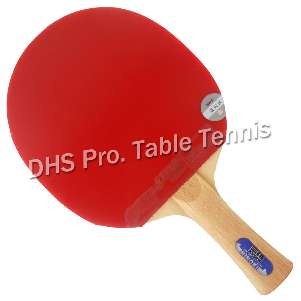 Pro Table Tennis Combo Paddle Racket Sanwei HC.5 with DHS TinArc3 and Donic ACUDA S2 Shakehand long handle FL