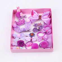 18Pcs Fashion Flower Headband Girls Hair Accessories