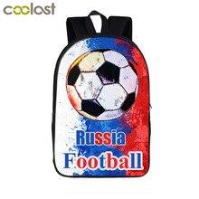 8f3d05aa64 Russie Footbally sac à dos Star numéro 7 sac pour adolescent garçons fille  enfants sacs d