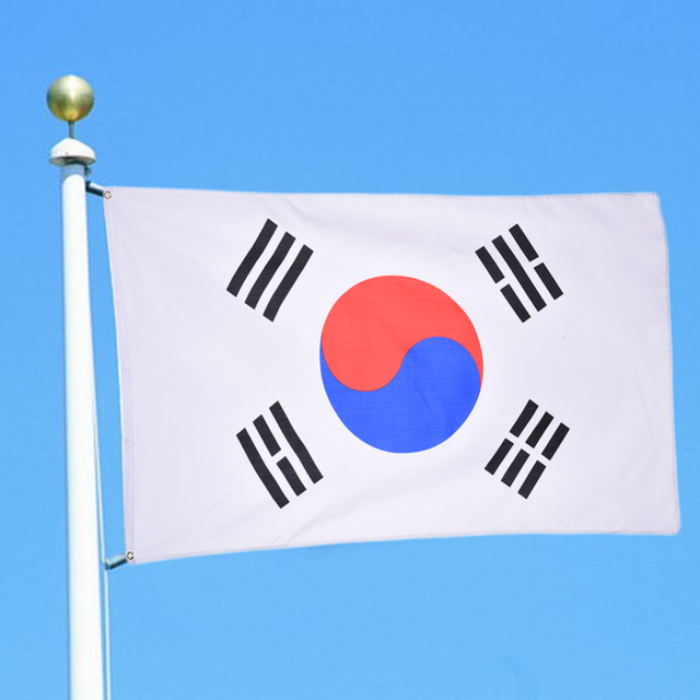 HOT! South Korea Flag Multi-country National Flag Banner Festival History Celebraion Events Decor 90*150cm