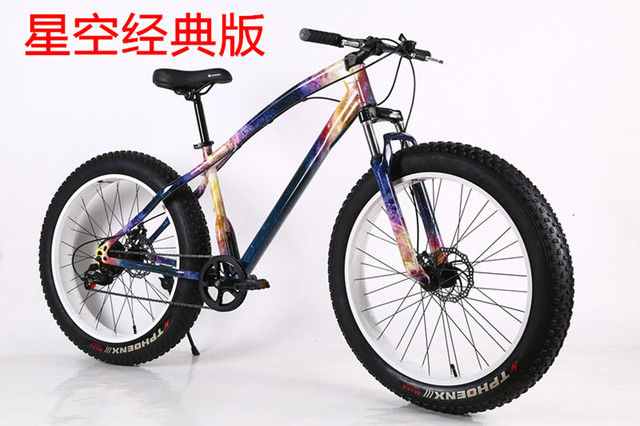 7/21/27 Speed 20/26 Inch Vet Fiets/Sneeuw Bike, 4.0 Breedte Wiel, Hoge Carbon stalen Frame, Aluminium Velg, dubbele Schijfrem