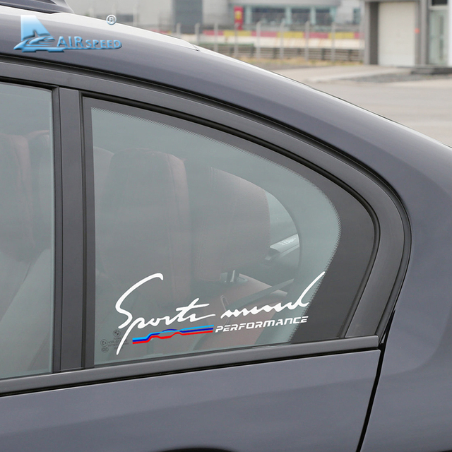 Airspeed car stickers m performance auto sticker window decal accessories for bmw e46 f30 e90 e60