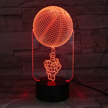 3D BULBING Optical Illusion LED Night Light Basketball Table Lamp Multicolored Nightlight Children Gift Acrylic Crafts Lampe