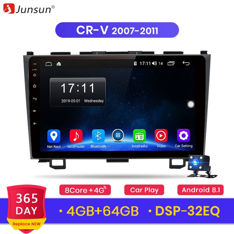 Junsun 4G 64G CarPlay DSP Android 8 1 Car Radio Multimedia Stereo Player GPS 2 Din