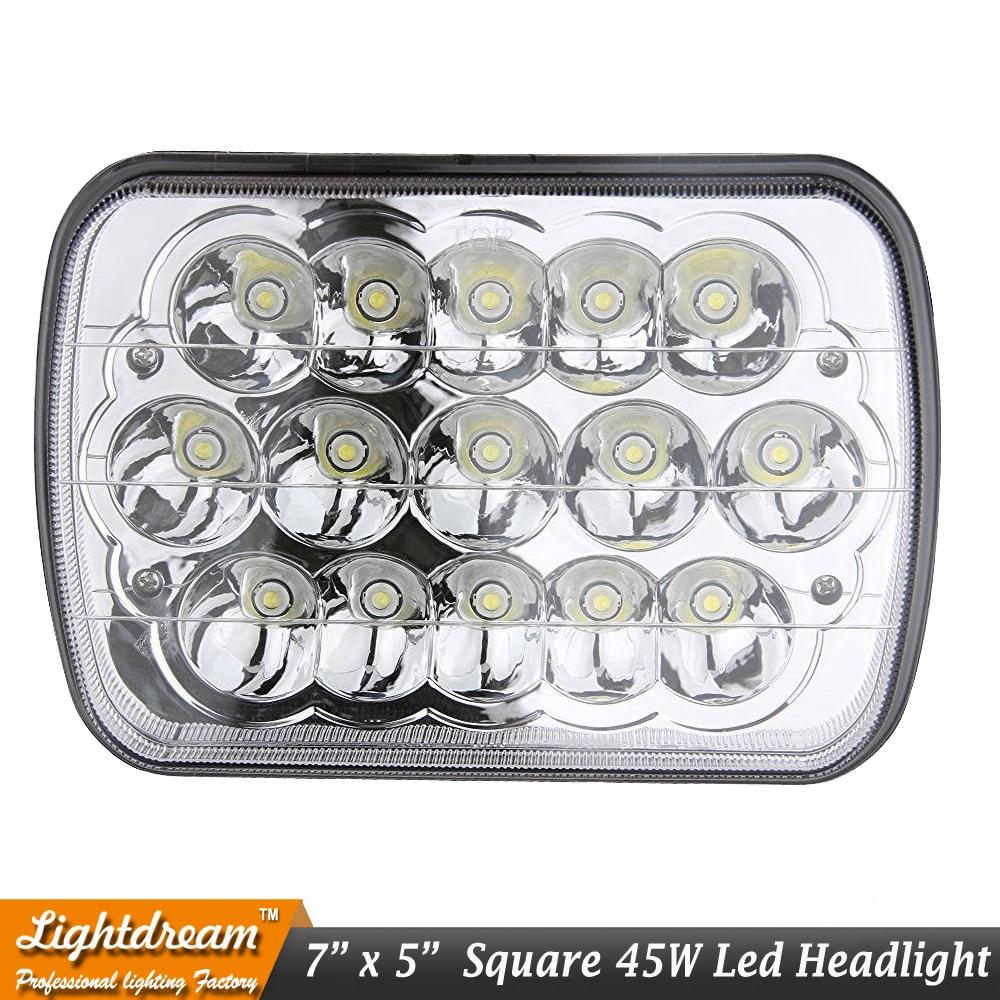 7x6 led möhürlənmiş şüa 7x5 45W Yüksək aşağı şüa 45W LED - Avtomobil işıqları - Fotoqrafiya 2