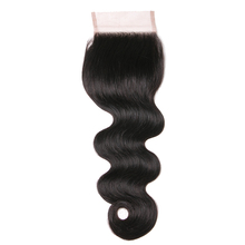 Queen like Human Hair Free Part 130% Density Light Brown Swiss Lace Non Remy Natural Color Bleached Knots Body Wave Lace Closure