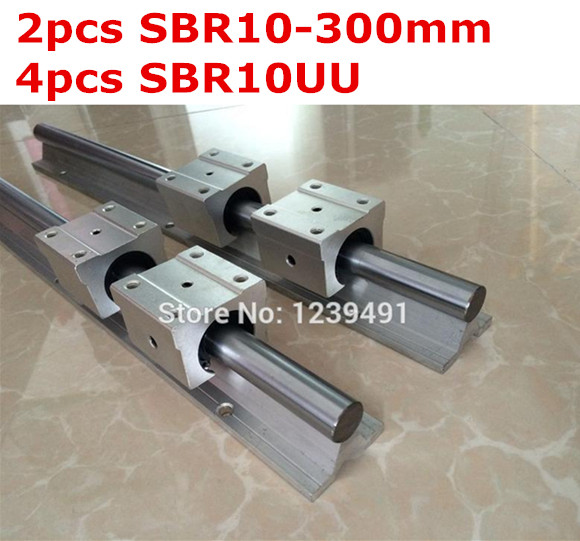 2pcs SBR10  -  300mm linear guide + 4pcs SBR10UU block жидкость sbr oreshek 60мл 0мг
