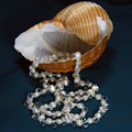 hot sell Elegant long natural white irregular baroque pearl crystal necklace fashion jewelry