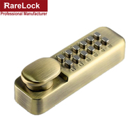 Rarelock Waterproof Mechanical Satin Chrome Locks Push Button Keyless Digital Numeral Deadbolt Coded Door Flat Office