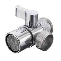 High Quality Home Bathroom Kitchen Basin Sink Faucet Brass Diverter Polished Chrome Water Tap Filter Valve