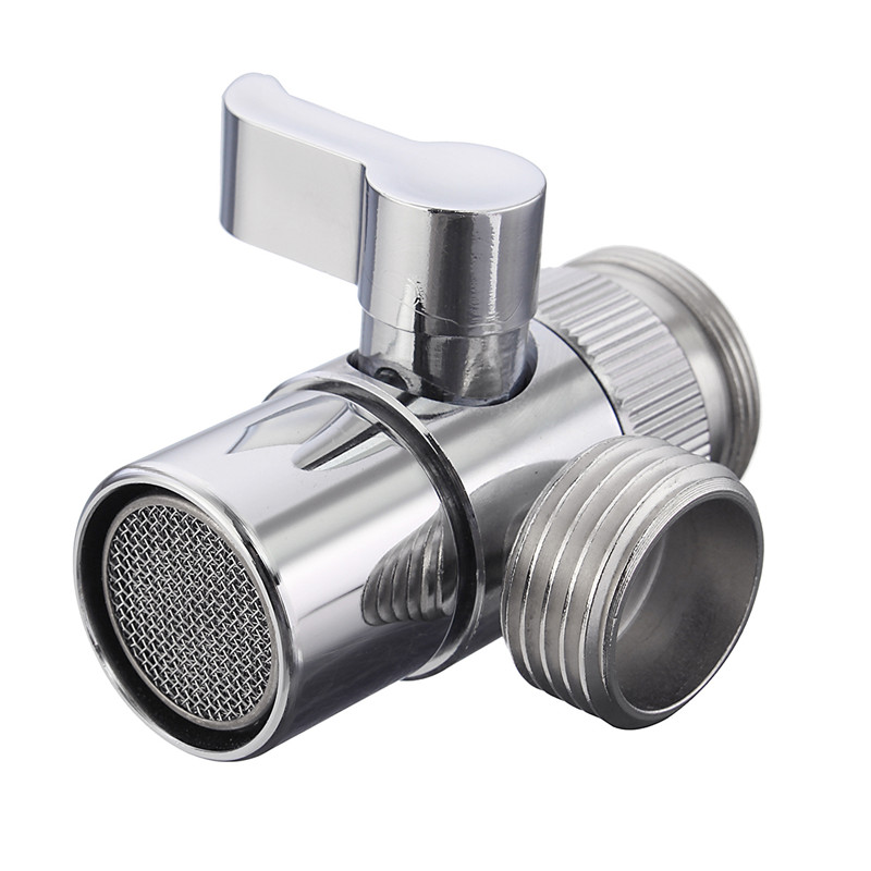 high quality home bathroom kitchen basin sink faucet brass diverter polished chrome water tap filter valve - Kitchen Sink Diverter Valve