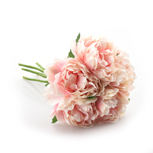 5 Heads Artificial Flower Hydrangea Peony Bridal Bouquet Silk Fake For wedding Valentines Day Party home DIY Decoration