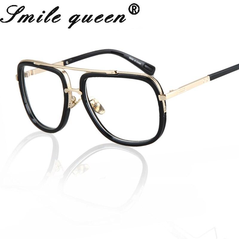 Fashion New Style Frame Eye Glasses Frame Optics Clear Reading Glasses Gold Metal Trendy Goggles For Men Women Oculos Feminino