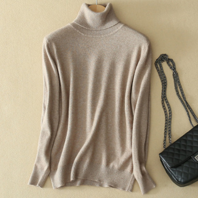Pure Color Cashmere Men's Sweater High Collar Male Knitted Sweater Men Women Loose Pullover 2020 Winter Warm Turtleneck Sweater