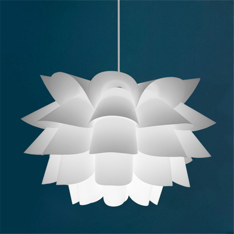 Simple Modern Pendant Lights Lotus Flower Lampshade IQ Puzzle Lamp Bedroom Living Room Dining Cafe Restaurant Lights Fixture chinese style classical wooden sheepskin pendant light living room lights bedroom lamp restaurant lamp restaurant lights