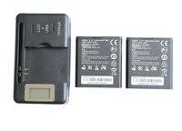 חדש 2x1250 mAh HB5K1/HB5K1H החלפת סוללה + LCD מטען עבור Huawei Ascend Y M866 C8810 C8650 U8650 U8660 S8520