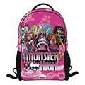 2017 fashion monster high bag children school bags for girls cartoon minions bag backpack kids bag boys bagpack mochila escolar