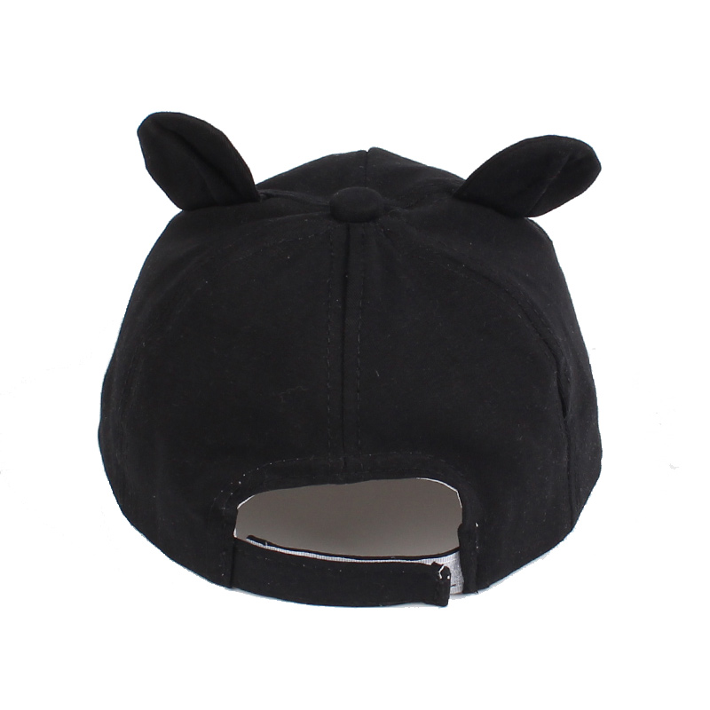 22e5854872b ... Soft Baby Baseball Cap Bear Ears Baby Hat Cotton Autumn Infant Cap For Boys  Girl Solid ...