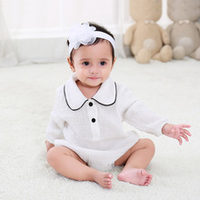 Long-sleeved baby body clothing summer pure cotton newborn out clothes girl