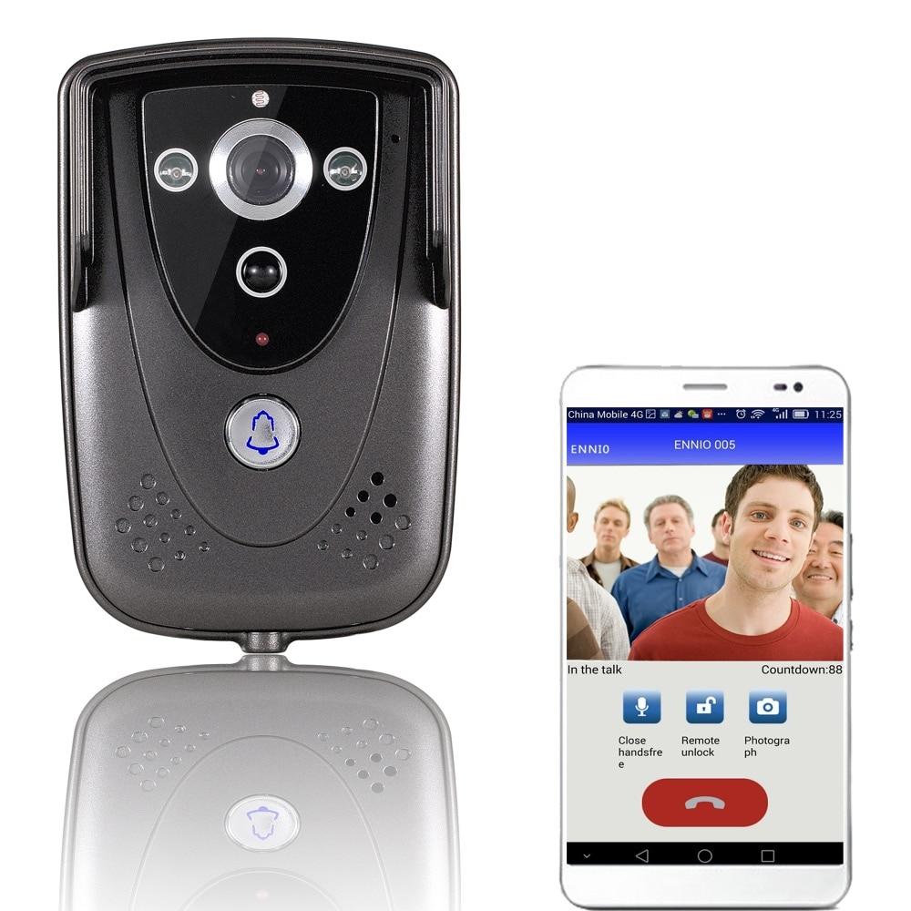 Free shipping Wireless WiFi Video Door Phone DoorBell Home Intercom System IR Night Vision IOS Camera WIFI005B For Apartment детская игрушка new wifi ios
