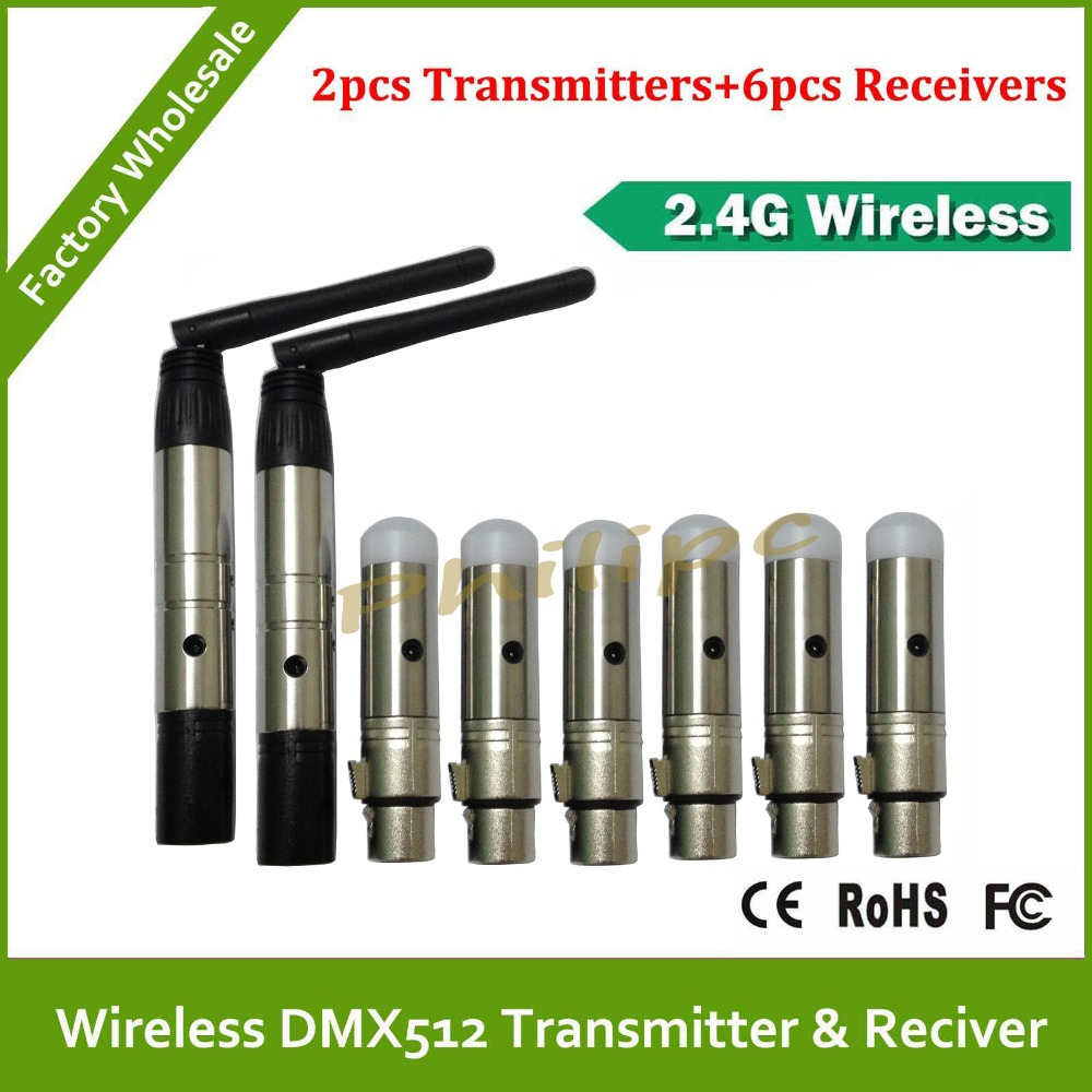 DHL Free Shipping Wireless DMX Receiver Transmitter for Stage Lighting