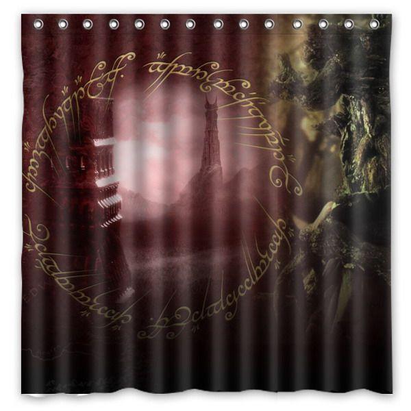 Creative Bath Shower Curtain online shop the lord of the rings pattern creative bath shower