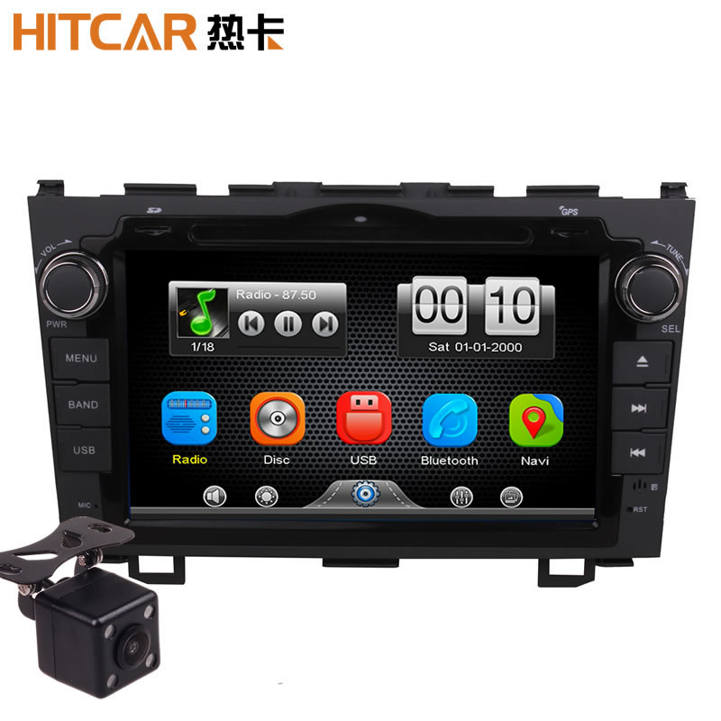 2Din Car In Dash DVD Video MP3 Player Radio Bluetooth Head Unit Stereos with Reverse Camera 4 Honda CRV 2007 2011 (Without GPS)