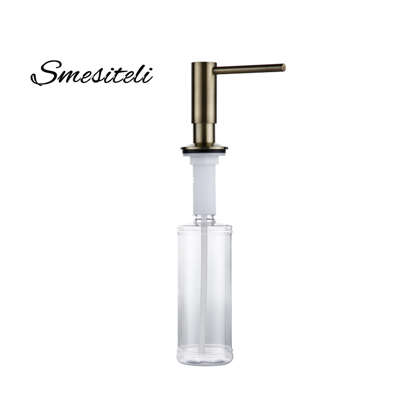 Smesiteli Antique Bronze Finish Kitchen Soap Dispenser Bathroom Detergent Dispenser For Liquid Soap Lotion Dispensers Tools