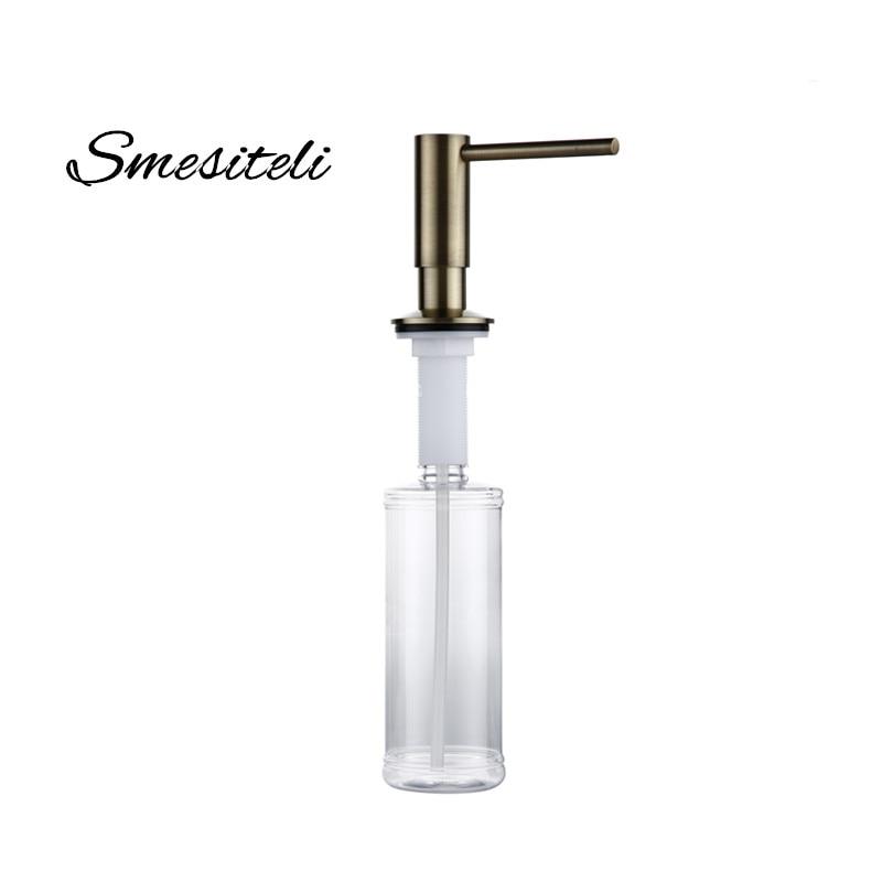 Smesiteli Antique Bronze Finish Kitchen Soap Dispenser Bathroom Detergent Dispenser For Liquid Soap Lotion Dispensers Tools