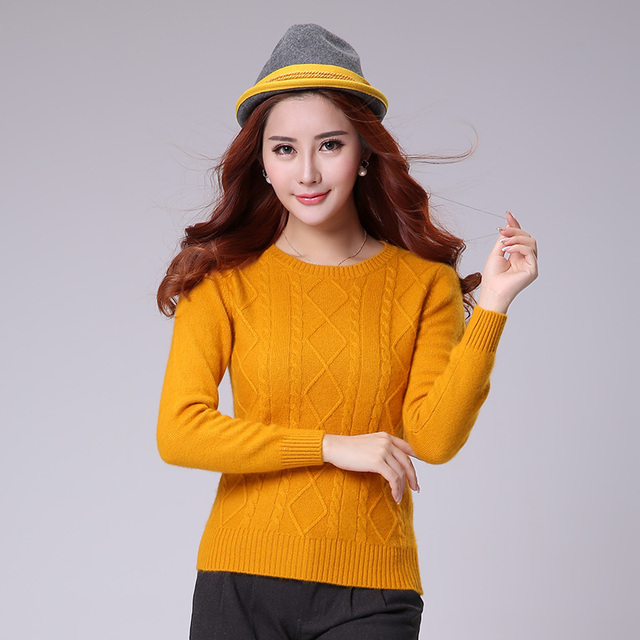 100% CASHMERE SWEATER Women Sweaters Hot Sale O-neck Warm Pullovers Pure Cashmere Knitwear Girls Standard Jumpers Clothes Tops