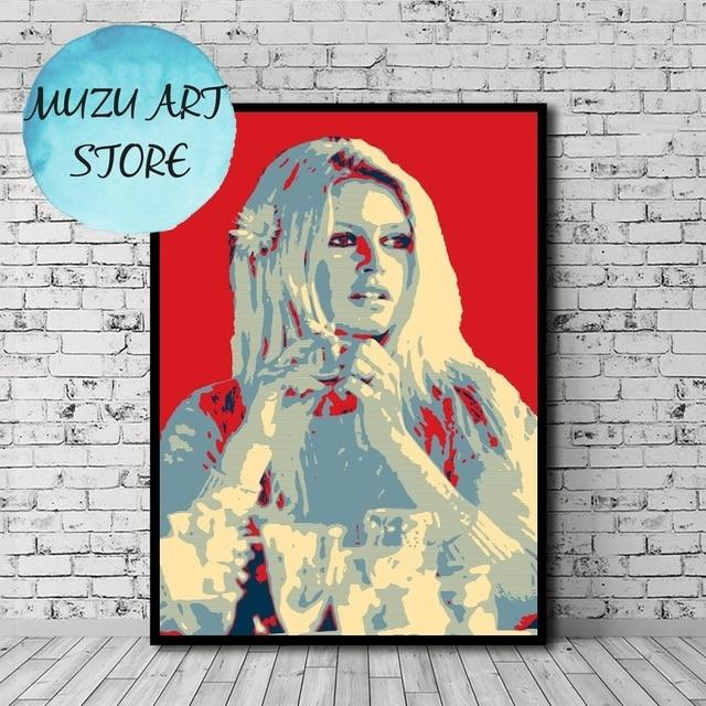 Brigitte Bardot  Poster Canvas Print Home Wall Decor No Frame