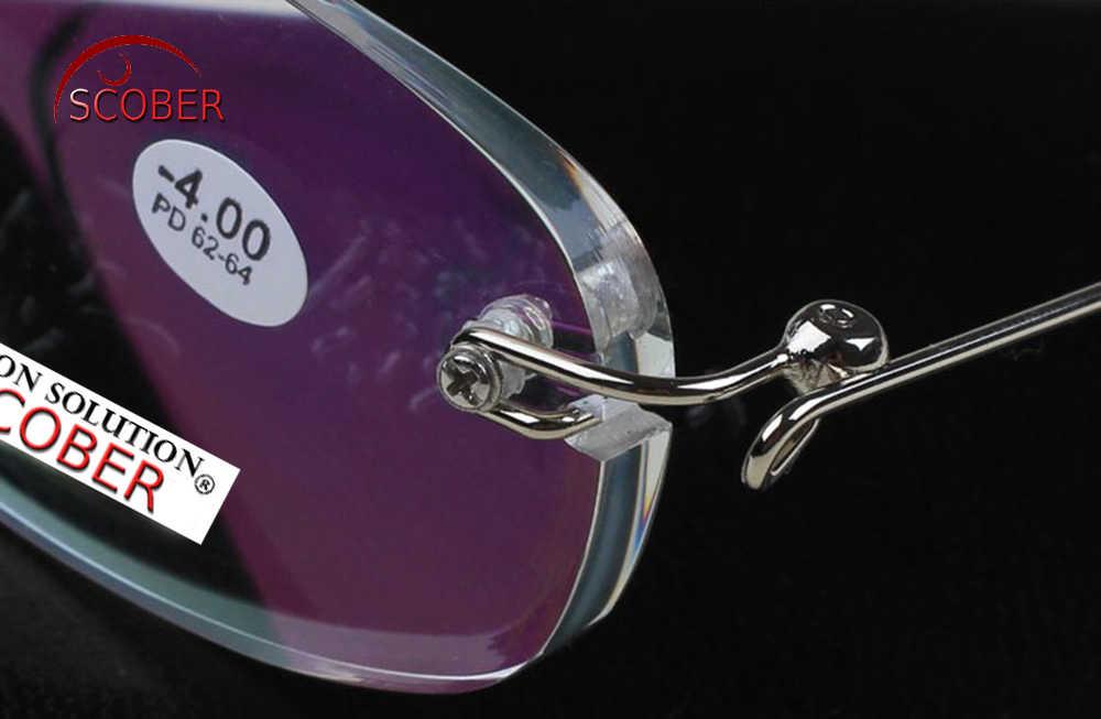 = Бренд SCOBER =! Две пары! Ультралегкие оправы из нержавеющей стали, антиотражающие очки для чтения + 1 + 1,5 + 2 + 2,5 + 3 + 3,5 + 4