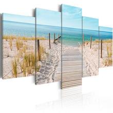 5 шт современный пейзаж холст Картина море пляж трава плакат