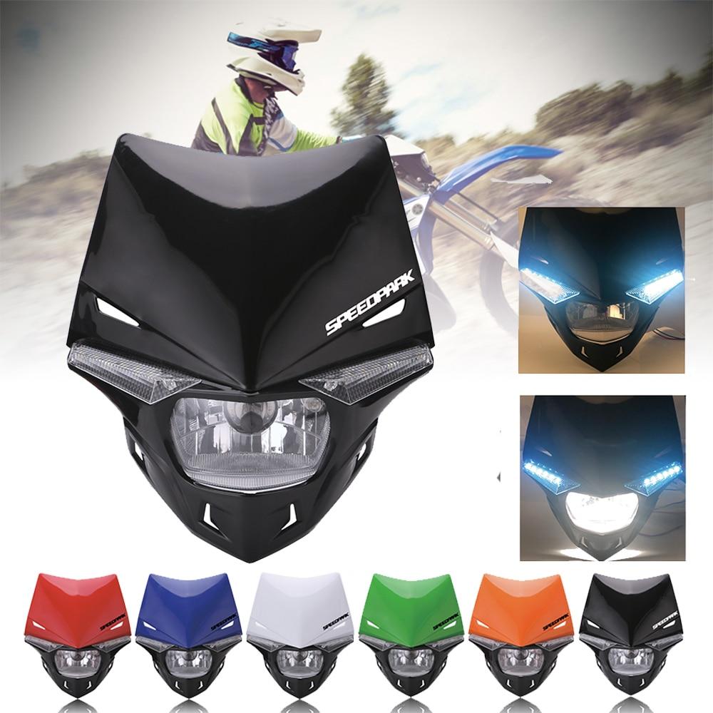 SPEEDPARK Universal Motorcycle Enduro Head Light Supermoto Motocross Headlight Dual Sport for KTM EXC SX SXF XC MX SMR
