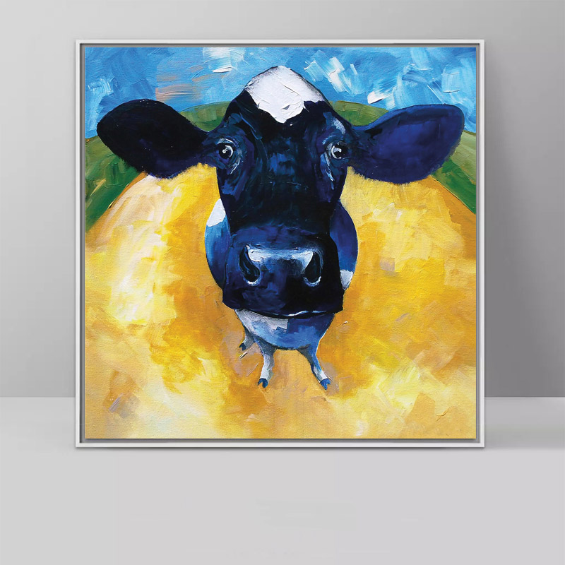 Us 5 38 51 Off Animal Cow Original Art Top Pop Art Printed Paintings Wall Decor Art Oil Painting On Canvas Free Shipping In Painting Calligraphy