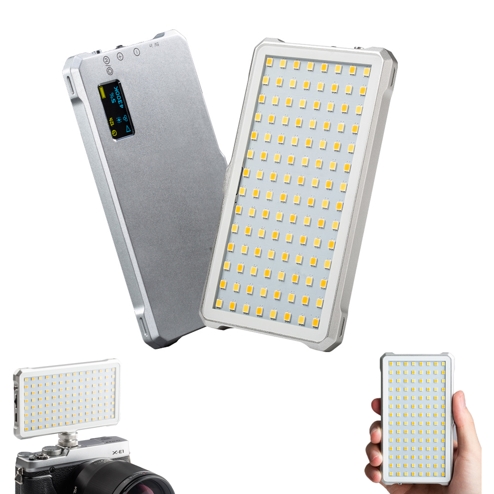 VILTROX Mini 112 LED Bi Color Dimmable LED Video Light w Rechargeable Lithium Battery 3200 5500K