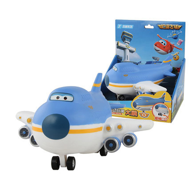 Airplane Robot Super-Wings Toys Birthday-Gift Mini Cute for 4-Style Box Q-Version Original