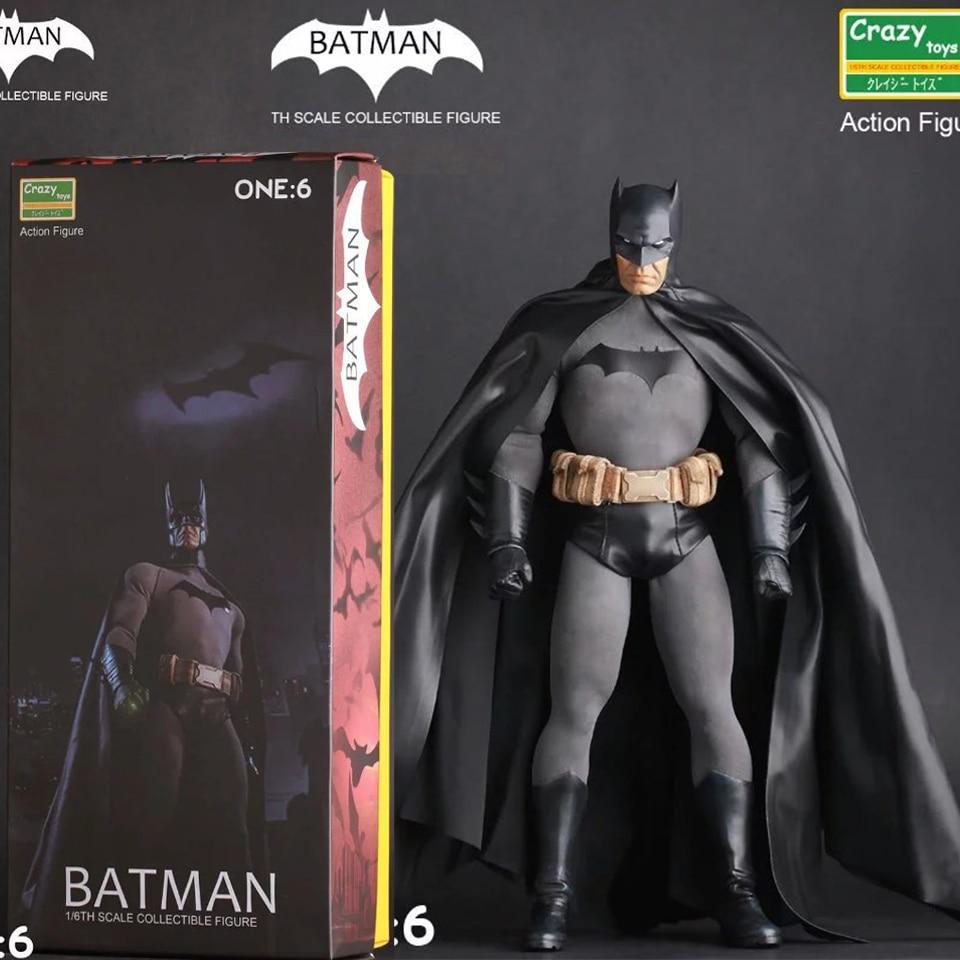 все цены на SAINTGI Superman V Batman Heavy armor Justice League Gray CRAZY TOY Dark Knight Marvel Rises Avengers Super Hero PVC 30cm Figure в интернете