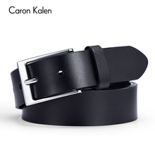 High-quality Brand Luxury Leather Man Belts Cow Mens Business Adjustable buckle Hole Belt