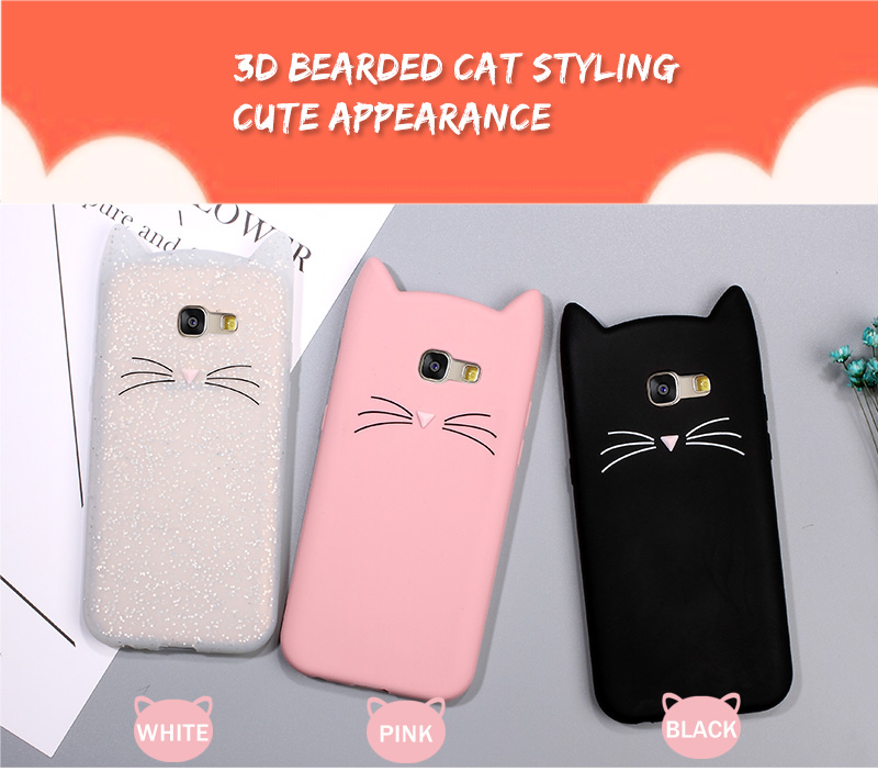 Meow Cat Mustache Case For Samsung Galaxy
