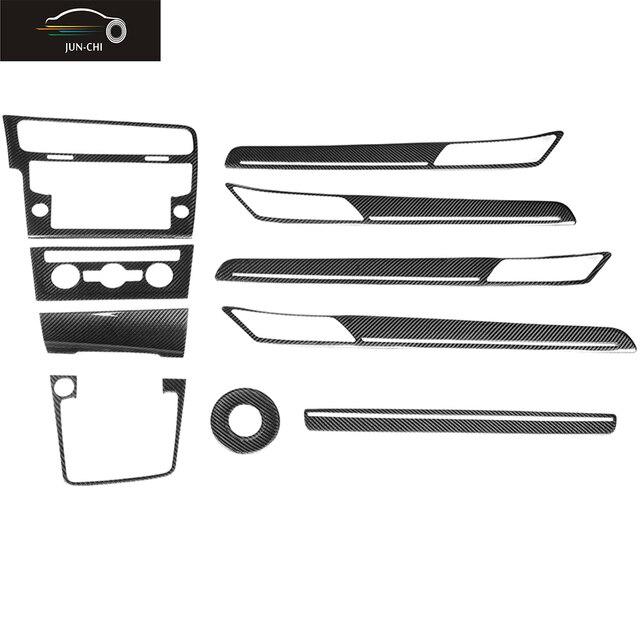 MK7 GTI Carbon Fiber Interior Decorative Trim Stickers Fit for Volkswagen GOLF 7 MK7 GTI Left Hand Drive 10pcs/set