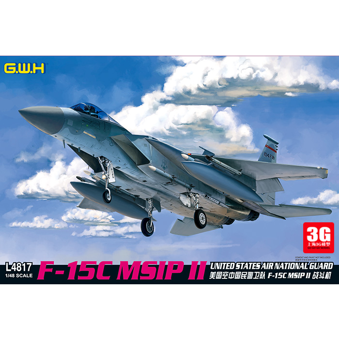 1 / 48 Assembled Aircraft L4817 US Air National Guard F-15C MSIP II Model Kit 1 400 jinair 777 200er hogan korea kim aircraft model