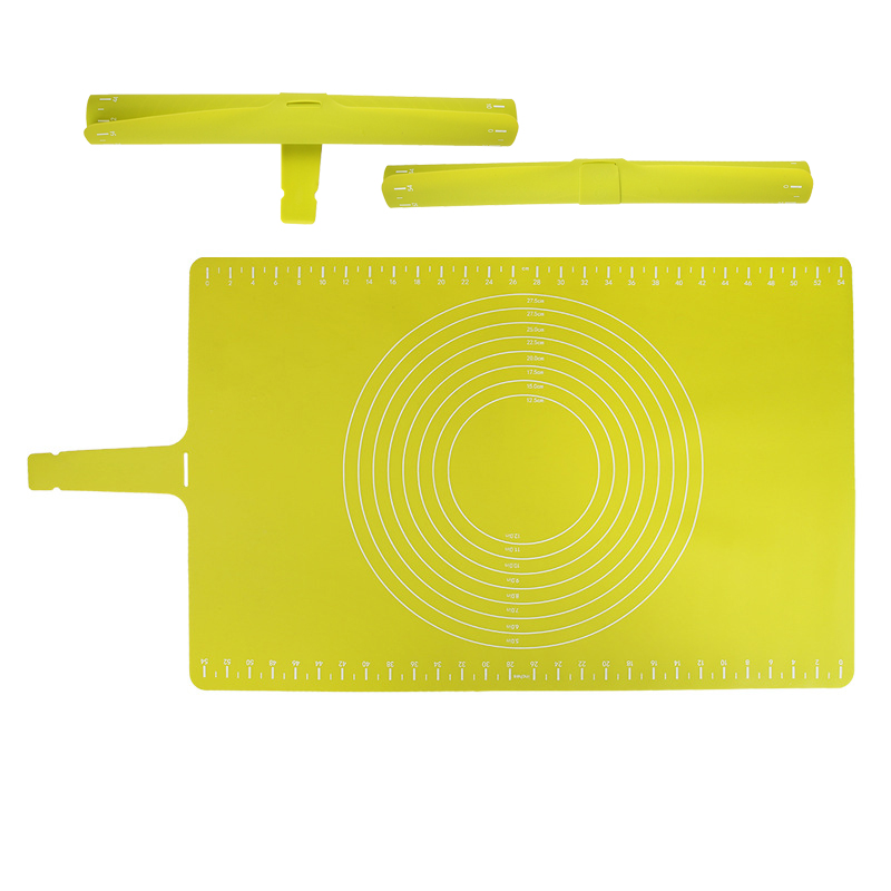 Creative Large Pastry Fondant Icing Pasta Silicone Work Kneading Dough Rolling Baking Mat With Measurements Tray