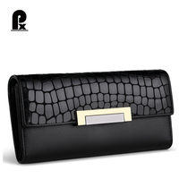Luxury Women Wallets Genuine Leather Quality Designer Brand Long Wallet Women Clutches Casual Female Purses Party